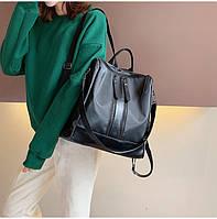 Городские рюкзаки для девушек экокожа модные повседневный летний стильный черный