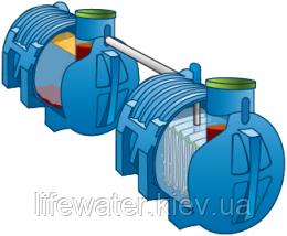 Автономная канализация на 1,2 м3/сутки 8ппж (септик и биофильтр САД)