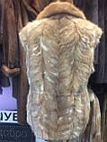 Норка жилет из натуральной норки норковая жилетка в харькове, фото 5