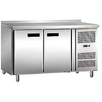 Стол холодильный Stalgast 2-х дверный с бортом 841026