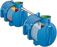 Автономная канализация на 2,5 м3/сутки 16ппж (септик и биофильтр САД)