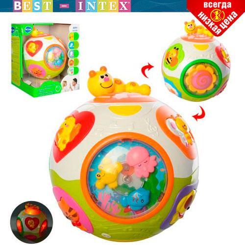 Детская развивающая игрушка Hola 938 Шар-сортер (Английский) (16-16 см.
