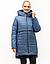 Зимові Пуховики жіночі великого розміру 46-58 синій, фото 4