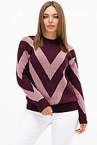 Пудровый стильный женский свитер шерстяной размер 42-46, фото 2