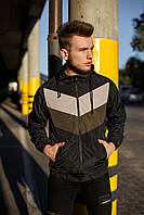 Мужская демисезонная куртка - ветровка .VIDLIK черная