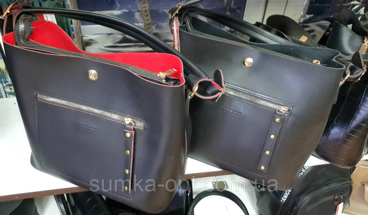 Стильные женские сумки из эко кожи 3отд (2цвета)25*29см