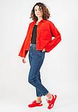 Женская джинсовая куртка MADE IN ITALY  L Красная, фото 2