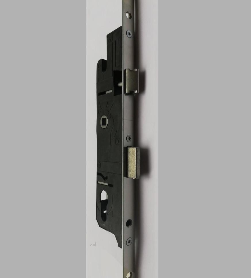 Замок рейка для металлопластиковых дверей защелка язычек PAVO 115.160.185.320 1600 мм 85 мм 28 дорнмас