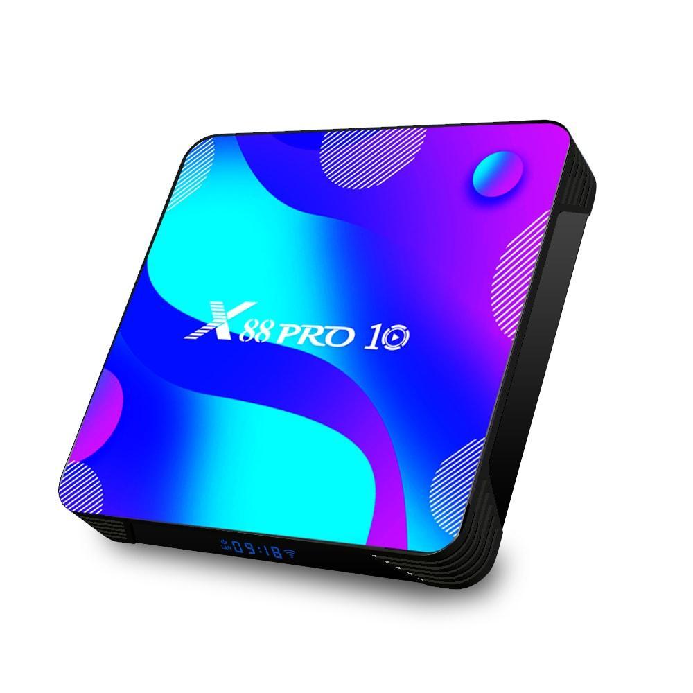 X88 Pro 10 4/32   RK3318   Android 10   Андроід ТВ Приставка   Smart TV Box (+ Налаштування)