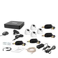 AHD Комплект видеонаблюдения для быстрой установки Tecsar 4OUT-DOME