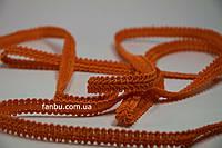 """Цветная тесьма """"шанель шубная"""" оранжевая ,ширина 1,2см(1упаковка-50м)"""