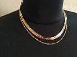 Многослойное колье/чокер золотое, фото 3