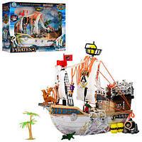 Игрушка для мальчиков Корабль пиратов 50838H с пушкой и пальмой