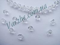 """Хрустальная бусина, """"кристал"""", прозрачная, 6 мм"""