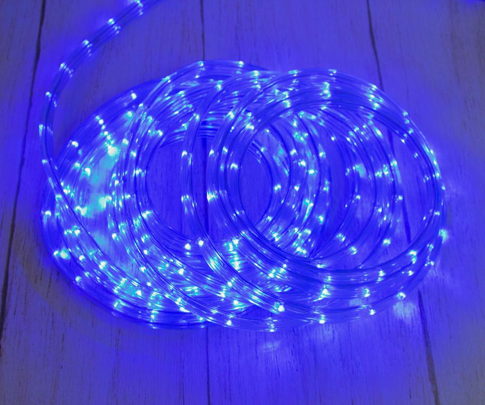Светодиодная лента, уличная гирлянда дюралайт, LED (синий свет), 8 метров, (доставка по Украине) (TS)