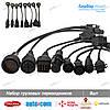 Комплект грузовых кабелей переходников Автоком (Autocom CDP) Delphi DS150e, фото 2