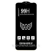 Защитное стекло 99H для Xiaomi Redmi Note 8T черное (на сяоми редми нот 8Т, ксиоми ноут 8 Т ксяоми)
