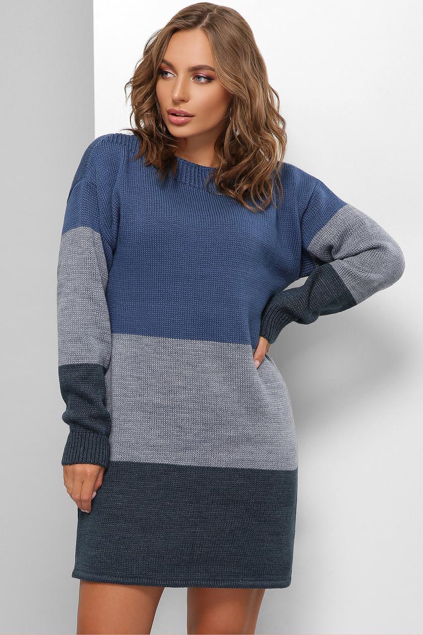 Свитер длинный - платье оверсайз размер 44-50