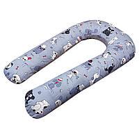 U-образная подушка для беременных Собачки