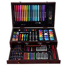 Набор для рисования 123 предмета в деревянном чемодане детский Mega Art Set   Набор для творчества