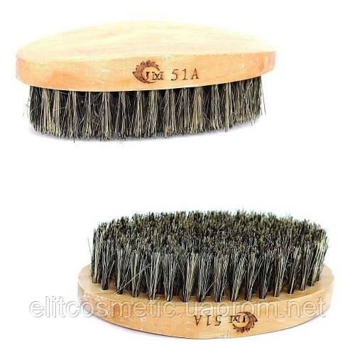 Щетка для бороды 51А (овал/дерево)