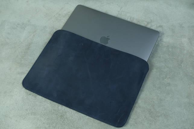 Чехол для MacBook Винтажная кожа цвет Синий, фото 2