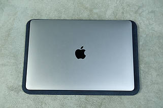 Чехол для MacBook Винтажная кожа цвет Синий, фото 3