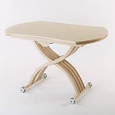 Круглий обідній стіл трансформер Бергамо (B2420) TES Mobili, колір крем