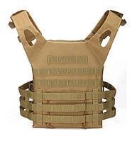 Тактичний полегшений військовий жилет-плитоноска.(Пісок), фото 1