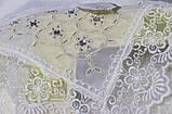 Святкова скатертина молочного кольору на прямокутний стіл Пирланта 160х220 см, фото 2