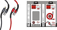 "Кабель  USB / TYPE-C ""REDDAX RDX-386"" 2,4А  1m Black/Grey/Red"