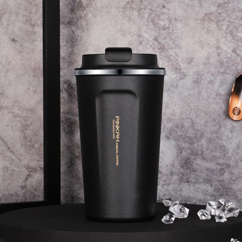 Термокружка Pinkah Coffe Cup черная 510 мл