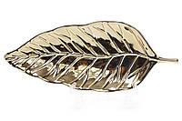 Блюдо керамическое Лист 24см, цвет - золото