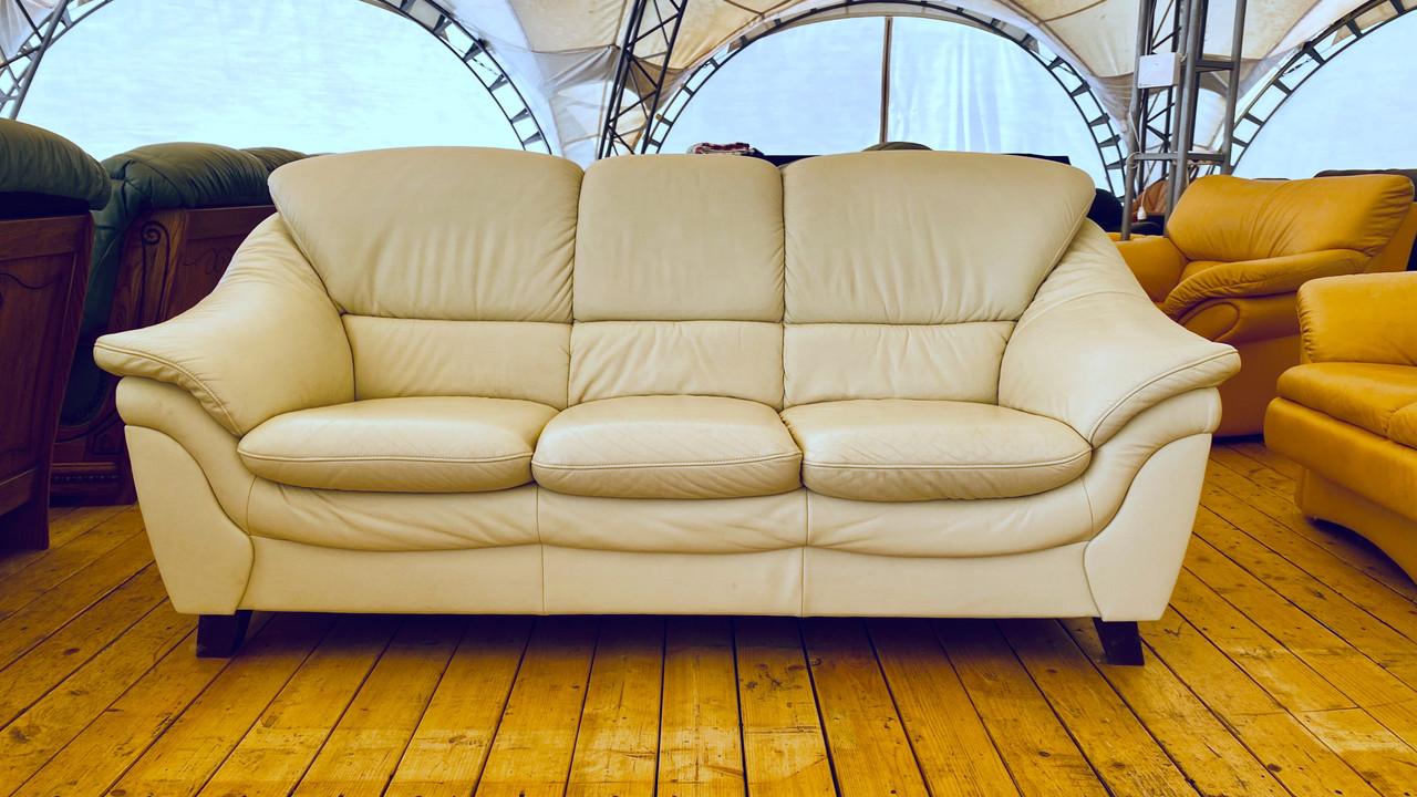Шкіряний диван б/у білий з Німеччини