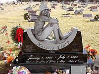 Эксклюзивный памятник из гранита № 144
