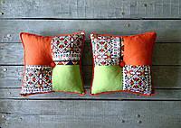 Декоративная подушка пэчворк орнамент