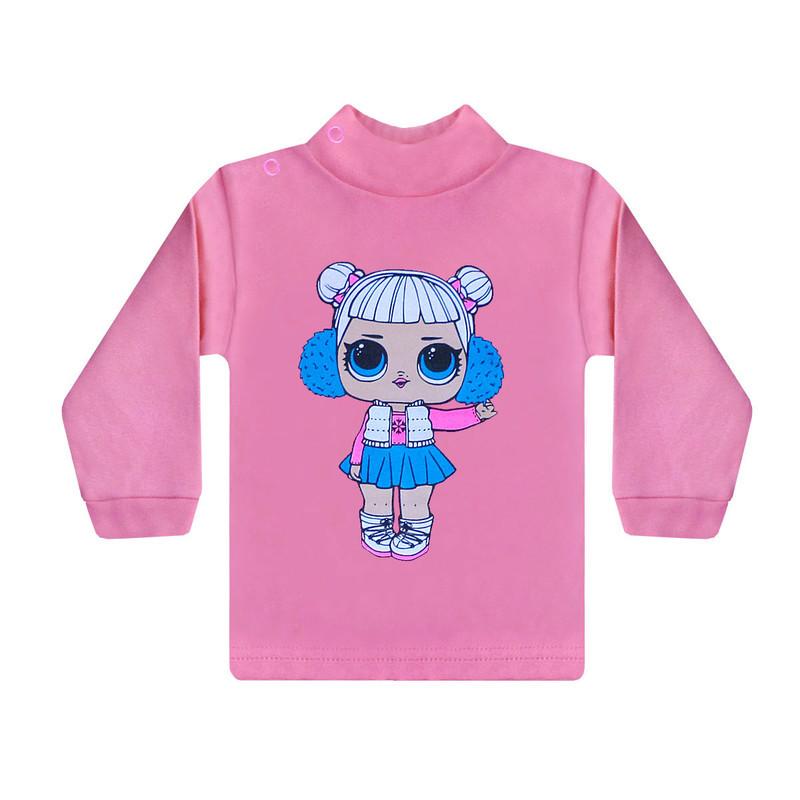 Дитячий кольоровий джемпер з малюнком LOL для дівчинки інтерлок