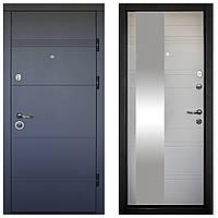 Дверь входная Министерство Дверей ПК-188/193 Элит Софт серый/белый мат Зеркало 2050х960мм правая