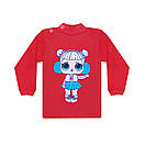 Дитячий кольоровий джемпер з малюнком LOL для дівчинки інтерлок, фото 2