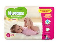 Huggies Ultra Comfort для девочек 3 80 шт