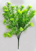 """Зеленый куст """"тмина"""" 31см,искусственная зелень для искусственных букетов, фото 1"""
