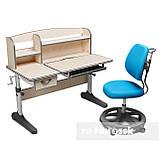Комплект зростаюча парта для школярів Cubby Ammi Grey + ергономічне крісло FunDesk Pratico Mint, фото 2