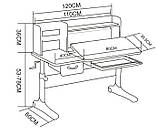Комплект зростаюча парта для школярів Cubby Ammi Grey + ергономічне крісло FunDesk Pratico Mint, фото 10