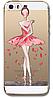 Силиконовый чехол балерина для iphone 5/5S