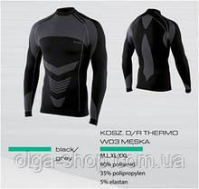 Термофутболка мужская с длинным рукавом Mona Spaio Thermo W03 (мужское термобелье, термокофта реглан)