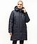 Зимові Пуховики жіночі великого розміру 54-70 марсал, фото 4