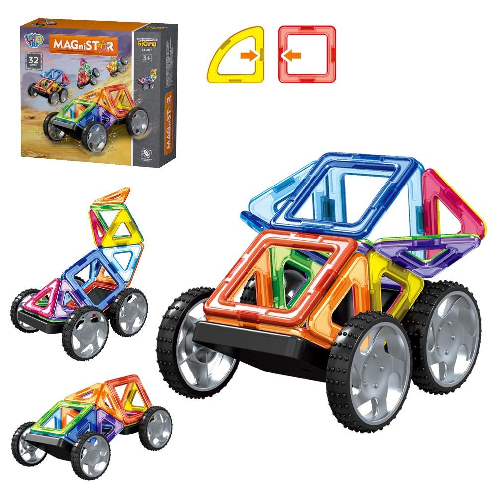 """Магнітний 3D конструктор """"Конструкторське бюро"""" на 32 дет, Limo Toy LT3001"""