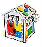 Дитяча розвиваюча іграшка Будинок великий дерев'яний 28х28х35 з підсвічуванням В006Бизикуб Бизиборд Бізіборд Бізікуб, фото 2