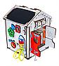 Дитяча розвиваюча іграшка Будинок великий дерев'яний 28х28х35 з підсвічуванням В006Бизикуб Бизиборд Бізіборд Бізікуб, фото 3