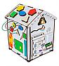 Дитяча розвиваюча іграшка Будинок великий дерев'яний 28х28х35 з підсвічуванням В006Бизикуб Бизиборд Бізіборд Бізікуб, фото 5